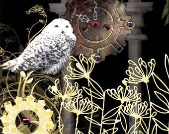 Night Garden original art collage
