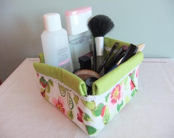 fabric basket using folding origami for little things of any kind