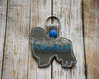 Collie Sheltie Dog Personalized Keychain Key Fob Tag Gift