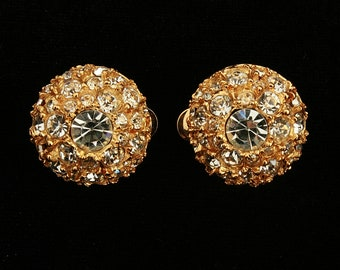 Sparkling Vintage Rhinestone Earrings-Perfect for a Wedding or Special Evening Out