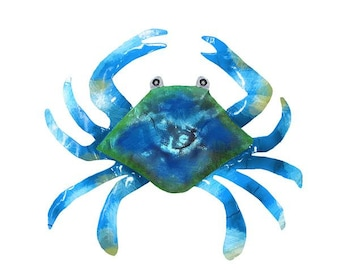 Blue Crab (Large) Metal Wall Art  (EA)