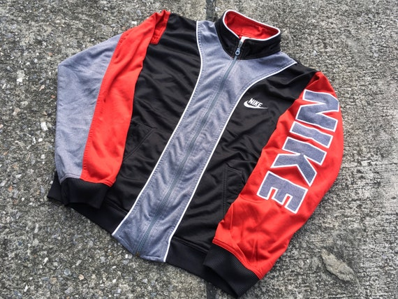 Spellout 90s Logo Arm Big Vintage Jacket Nike wYaxqCPX