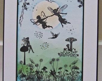 Springtime Fairysparkled Sprite Faerie Artwork