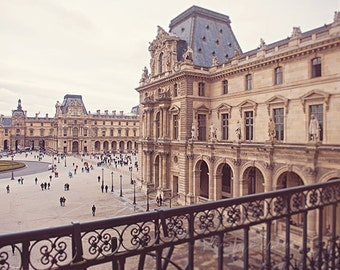 paris travel photography, louvre museum, Musée du Louvre, france, neutral tones, french home decor / louvre no. 2 / 8x10 fine art photo