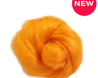 Tussah silk fibers ,  melon