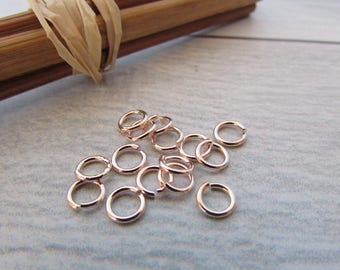30 5 mm rose gold plated metal jump rings