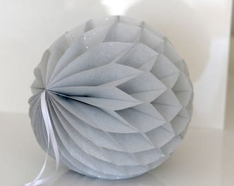 Light gray / greyTissue paper honeycomb ball-hanging wedding party decorations-paper lantern-birthday decor-round paper ball-nursery decor