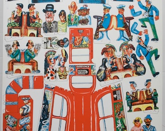 Red Grooms London Bus lithograph poster