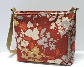 Canvas Conceal Carry Purse, Handbag, Women's CCW, Autumn Winter Pattern