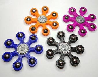 7 Ball Bearing Fidget Spinner, various colors available