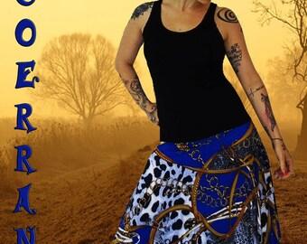 Stretch harem pants, long harem pants, harem pants, jewelry, blue srouel 'like a jewel...'