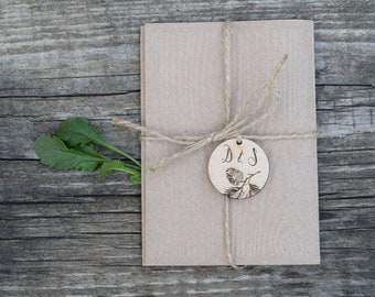 Pinecone wedding invitations made for a forest wedding / Wood wedding invitation