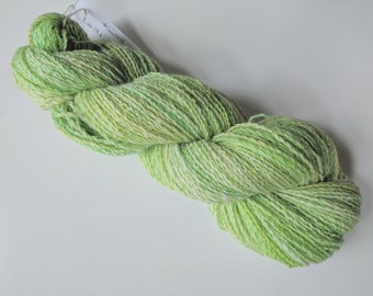 "Handspun Wool Yarn: ""Lemon Lime Slush"""