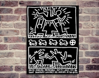 Keith Haring poster. Keith Haring exhibition. Exhibition poster.