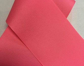 3 inch Neon Pink Grosgrain - Big Ribbon for Cheer Bow Making - New Color by Offray! made in usa