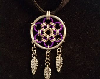 Chainmaille Dream Catcher Pendant