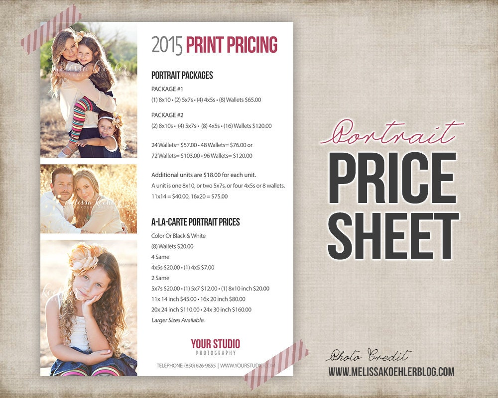 🔎zoom  Price Sheet Template