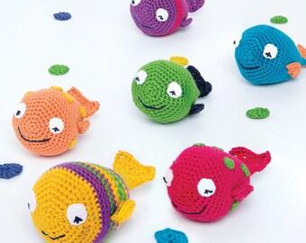 DMC (15441L/2) And They Swam Amigurumi Crochet Pattern - designed by Sara Mackin