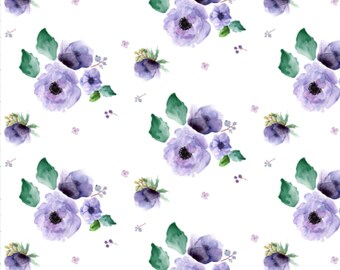 Baby Swaddle, Crib Sheet, Baby Blanket | Baby Girl, Floral, Lilac, Lavender, Purple