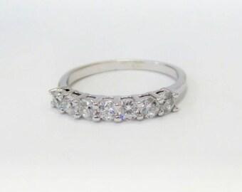 Diamond Wedding Band/ 14k Gold Diamond Wedding Ring/ Diamond Stackable Ring/ Gold Diamond Wedding Ring/ Stackable Diamond Ring/ Bridal