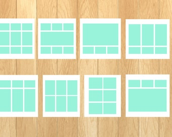 5 x 5 (Set of 10) Templates for Photos (Scrapbooking, Photographs and More)