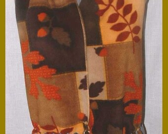 Autumn/Fall Fleece Scarf, Muffler, Bufanda, Autumn Patchwork