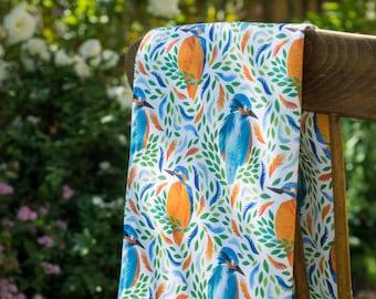 Bright Kingfisher Tea Towel  / Kitchen Towel
