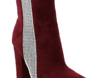 GLITZ ANKLE BOOTS