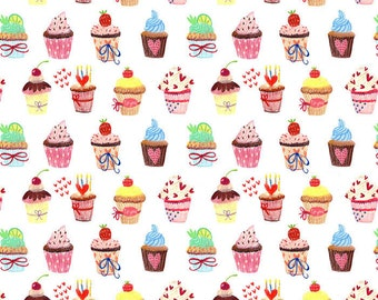 Party Cupcakes - Ceramic Decals- Enamel Decal - Fusible Decal - Glass Fusing Decal ~ Waterslide Decal - 693125