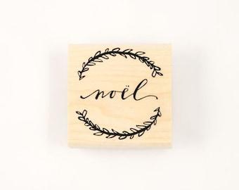 noel wreath stamp
