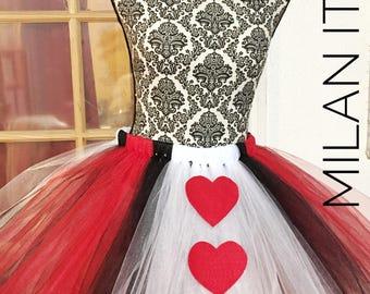 ADULT Queen of hearts, alice in wonderland,tutu, queen costume, adult costume , halloween, costume, handmade,dressup, halloween costume