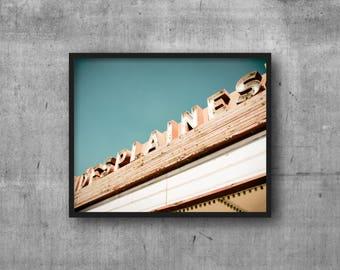 Des Plaines, Illinois - Des Plaines Theatre Sign - Art Photography Print - sign photo