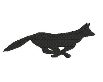 6 sizes - Fox Embroidery Design, Fox Embroidery Pattern, Running Fox Embroidery, Fox Silhouette Embroidery, Machine Embroidery, Fox Design