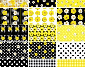 Oops a Daisy Fat Quarter Bundle, 18 Pieces, Kanvas Studio Collection, Benartex, Precut Fabric, Quilt Fabric, Cotton Fabric