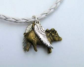 Quirky Flying Pig Bracelet - random bracelet - cord bracelet vegan bracelet mothers day gift