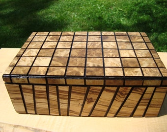 mosaic wood box