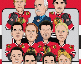 Chicago Blackhawks Illustration - Stanley Cup Champions  on Canvas
