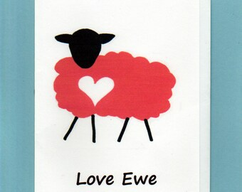 Note Card / Love Ewe