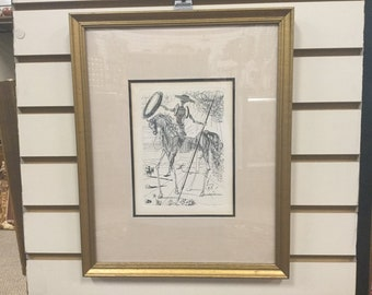 Salvador Dali Signed Lithograph - Don Quiote