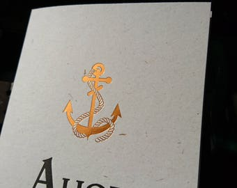Ahoy! A glittering letterpress card
