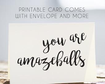birthday card best friend, amazeballs cards, printable amazeballs, printable best friend card, printable birthday card