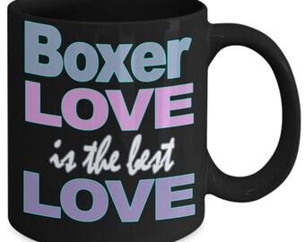 Boxer Coffee Mug - Boxer Dog - Boxer Dog Gift - Boxer Gift - Boxer Mug - Boxer Dog Lover - Boxer Mom Boxer Dad - Coffee Mug Dog Love Ceramic