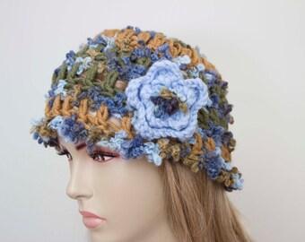 Womans beret crochet woman hat beanie hat winter slouchy crochet hat for woman,blue ,camel,green
