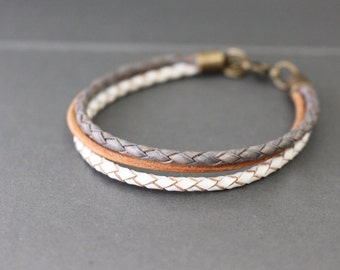 Leather Bracelet - Layering Leather Bracelet - Boho