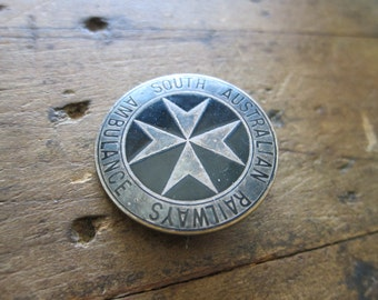 Antique South Australian Ambulance Railways Pinback, American History Teacher Gift Ideas, Unique Present for Grandparents, anniversary