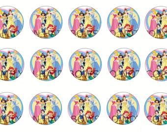 Disney princess group bottle cap image