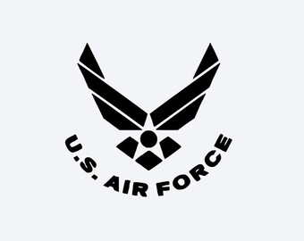 US Air Force Vinyl Decal, Cell Phone Decal, Tablet Decal, Car Decal, Wall Decal, Personalized