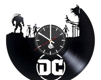 DC Comics Superheroes Vinyl Record Wall Clock