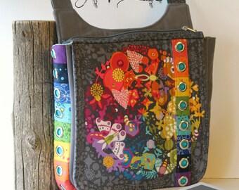 Rainbow Cross Body bag messenger style