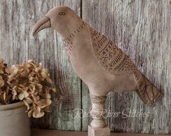 Primitive Folk Art Bird, Primitive Make Do, Soft Sculpture, Primitive Bird, Home Decor, Farmhouse Decor, Shabby Chippy Paint